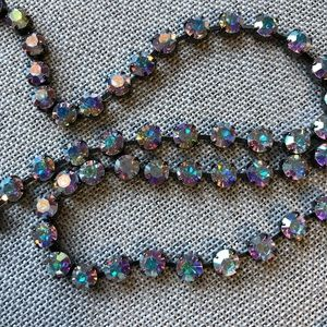 Multi Colored Crystal Chain Belt for Added Bling!!